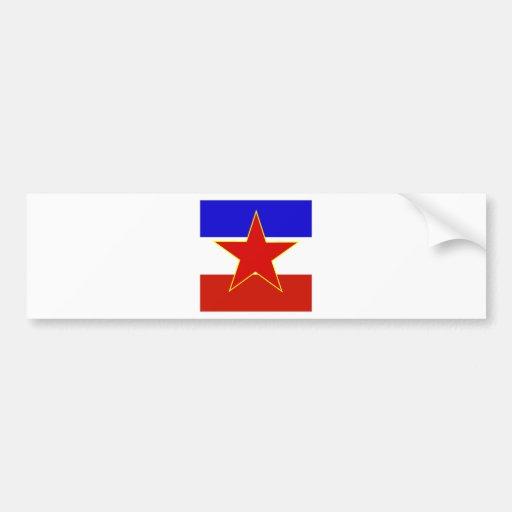 Yugoslavia High quality Flag Car Bumper Sticker