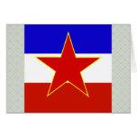 Yugoslavia High quality Flag Card