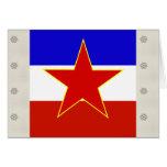 Yugoslavia High quality Flag Greeting Card