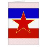 Yugoslavia High quality Flag Greeting Cards