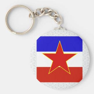 Yugoslavia High quality Flag Key Chains