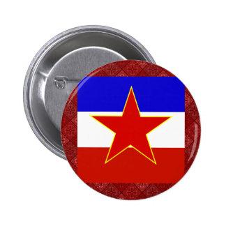 Yugoslavia High quality Flag Pinback Button