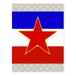 Yugoslavia High quality Flag Postcard