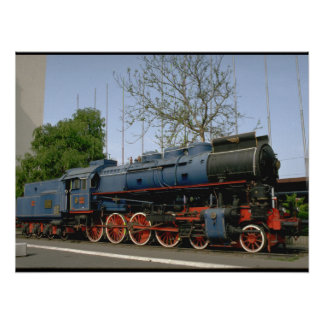Yugoslavia, JZ 4-8-0 #11-022_Trains of the World Poster