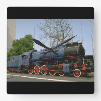 Yugoslavia, JZ 4-8-0 #11-022_Trains of the World Square Wall Clock