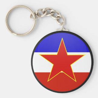 Yugoslavia quality Flag Circle Keychain