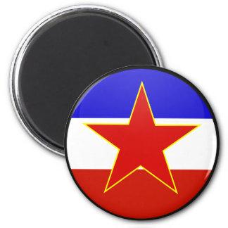 Yugoslavia quality Flag Circle Magnet