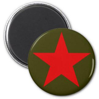 Yugoslavia Red Star 2 Inch Round Magnet