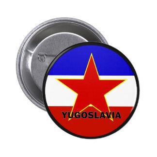 Yugoslavia Roundel quality Flag Pinback Button
