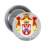 Yugoslavian Emblem Button