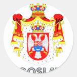 Yugoslavian Emblem Round Sticker