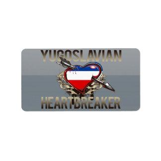 Yugoslavian Heartbreaker Custom Address Label