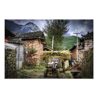 Yuhu Village in Western China Photo Print