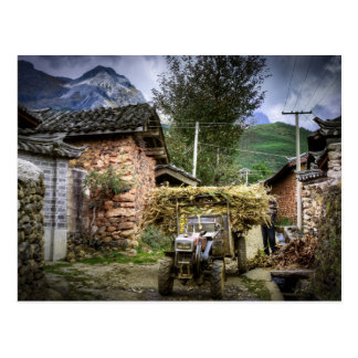 Yuhu Village in Western Yunnan Province in China Postcard