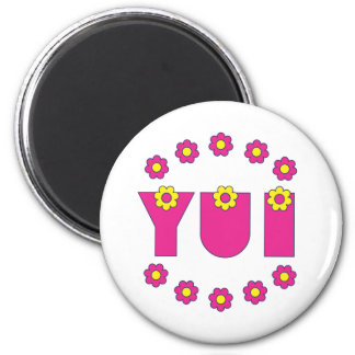 Yui in Flores Pink Refrigerator Magnet