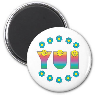 Yui in Flores Rainbow Fridge Magnets