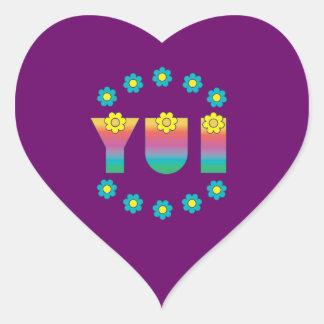 Yui in Flores Rainbow Heart Sticker
