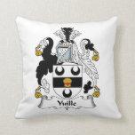 Yuille Family Crest Throw Pillows