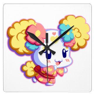 Yukata Candy Girl Square Wallclocks