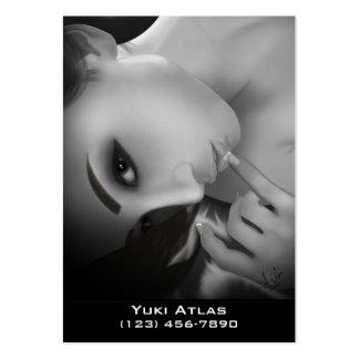 Yuki bw business card template