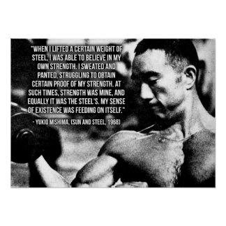 Yukio Mishima - Motivational Gym Poster