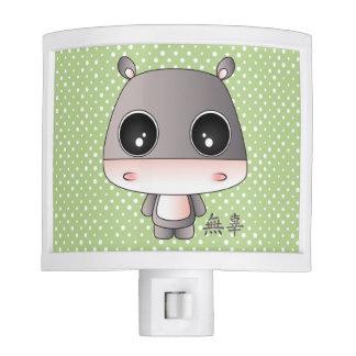 Yukio the hippo night light