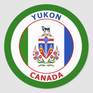 YUKON, CANADA CLASSIC ROUND STICKER