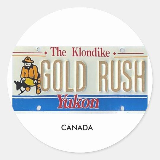 Yukon Classic Round Sticker