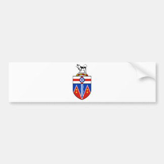 Yukon Coat of Arms Bumper Stickers