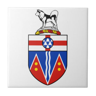 Yukon Coat of Arms Small Square Tile