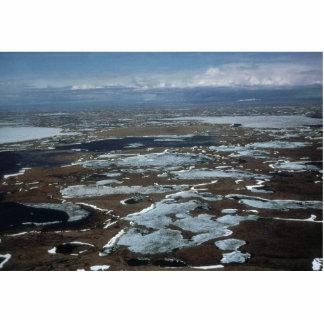 Yukon Delta - Aerial View Photo Sculpture