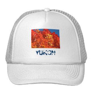 Yukon Hats Truckers Hat Orange Fall Tree Leaves