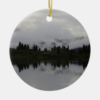 Yukon Heartbeat Monitor Double-Sided Ceramic Round Christmas Ornament