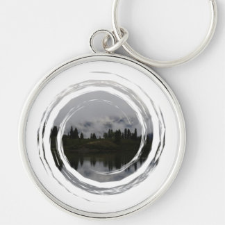 Yukon Heartbeat Monitor Silver-Colored Round Keychain