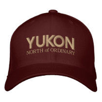 Yukon, North of Ordinary Embroidery Designs Embroidered Baseball Hat