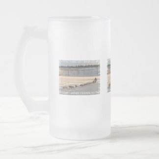 Yukon Quest 2011 16 Oz Frosted Glass Beer Mug