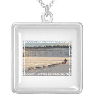 Yukon Quest 2011 Square Pendant Necklace