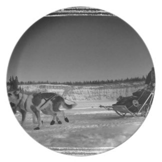 Yukon Quest Close-Up; No Text Dinner Plate