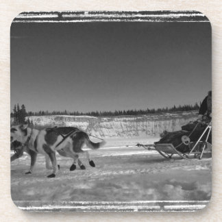 Yukon Quest Close-Up; No Text Drink Coaster