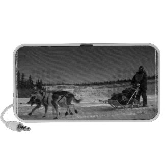 Yukon Quest Close-Up; No Text Portable Speakers