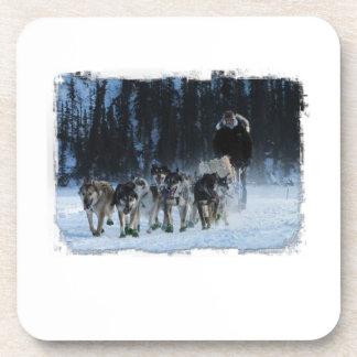 Yukon Quest Dogsled Team Drink Coasters
