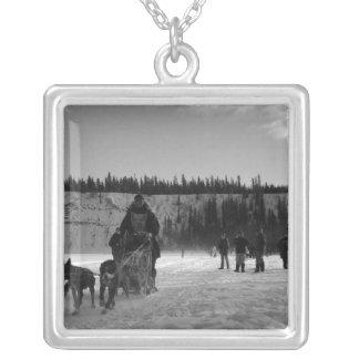 Yukon Quest Monochrome Square Pendant Necklace