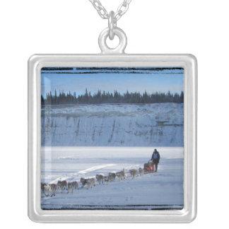 Yukon Quest Team Square Pendant Necklace