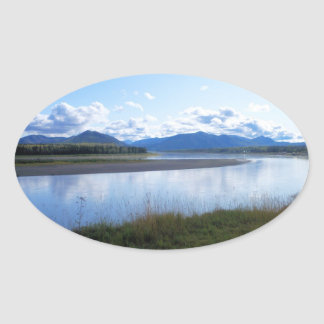 yukon river alaska oval sticker