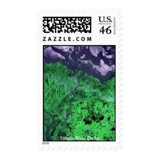 Yukon River Delta Landsat Imagery Stamps