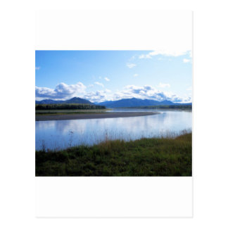 yukon river in eagle ak postcard