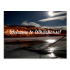 Yukon River Moon Postcard