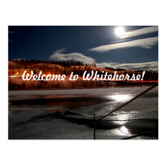Yukon River Moon Postcard
