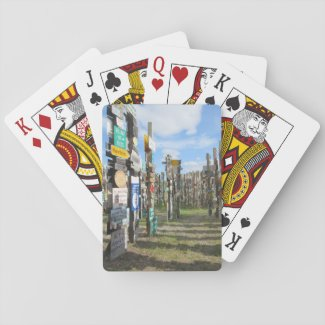 Yukon Sign Forest Playing Cards