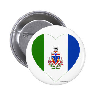 Yukon Territory Flag Heart 2 Inch Round Button